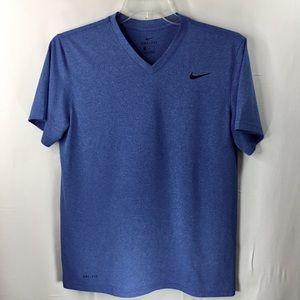 Nike Dri fit, Men's Med, Short Sleeves Shirt, Blue